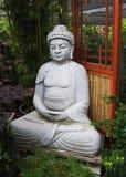 Rustige Boedha in de Tuin van het Bamboe Stock Afbeelding