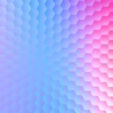 Rustige hexagonale blauwe purpere achtergrond Het abstracte ontwerp van de patroonillustratie Document kaart ruimtetekst Lege bee royalty-vrije illustratie