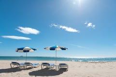 Rustige scène bij het strand Royalty-vrije Stock Afbeelding
