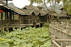 Rustige Tuin dichtbij Guilin Stock Foto's