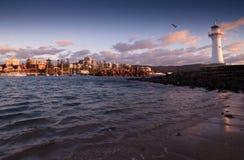Rustige zonsopgang bij de vuurtoren Royalty-vrije Stock Afbeelding
