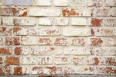 Rustikale alte Backsteinmauer-Beschaffenheit Stockfoto