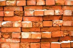 Rustikale alte Backsteinmauer-Beschaffenheit Lizenzfreies Stockbild