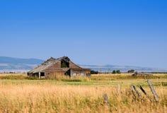Rustikale alte Scheune in Wyoming USA stockfoto