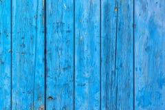 Rustikale blaue Plankenoberfläche Stockbilder