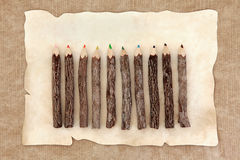 Rustikale Bleistifte Lizenzfreie Stockfotografie