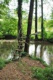 Rustikale Brücke Stockbild