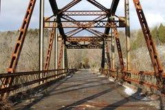 Rustikale Brücke Lizenzfreie Stockfotos