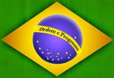 Rustikale brasilianische Flagge Lizenzfreies Stockfoto