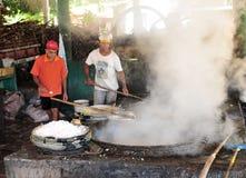 Rustikale Brown-Zuckerreibenproduktion Stockbild