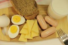 Rustikale Draufsicht des Frühstücks, Lizenzfreies Stockfoto