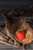 Rustikale Erdbeere Lizenzfreies Stockfoto