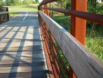 Rustikale Fuss-Brücke Stockfotos