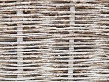 Rustikale gesponnene Flechtweide lizenzfreie stockbilder