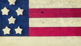Rustikale hölzerne amerikanische Flagge Lizenzfreie Stockfotos