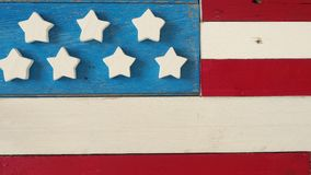 Rustikale hölzerne amerikanische Flagge Stockfotografie