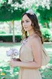 Rustikale Hochzeit Braut stockfotos