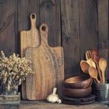 Rustikale Küchen-Geräte lizenzfreies stockfoto