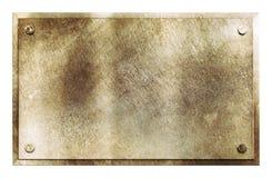 Rustikale Messingmetallschildbeschaffenheit Stockbilder