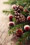 Rustikale Weihnachtsdekoration Stockbild