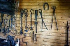Rustikale Werkzeuge Stockfoto