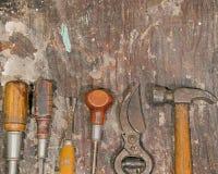 Rustikale Werkzeuge Lizenzfreie Stockfotos
