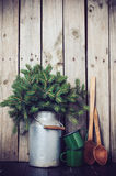 Rustikale Winterdekoration Lizenzfreies Stockfoto