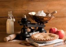 Rustikaler Apfelkuchen Stockbilder