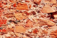 Rustikaler Backsteinmauer-Hintergrund Stockbild