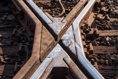 Rustikaler Bahnübergang Abschluss oben Lizenzfreie Stockbilder