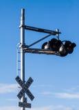 Rustikaler Bahnübergang Abschluss oben Stockfoto