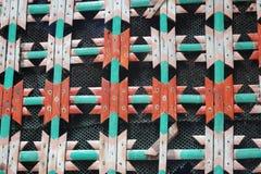 Rustikaler Bambuszaun Stockfoto