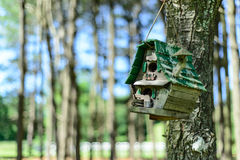 Rustikaler Birdhouse Lizenzfreie Stockbilder