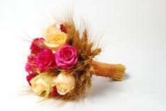 Rustikaler Brautblumenstrauß Stockfoto