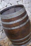 Rustikaler Fassabschluß der Eiche oben Lizenzfreies Stockfoto