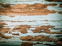 Rustikaler hölzerner Hintergrund mit alter Farbe Lizenzfreies Stockbild