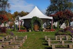 Rustikaler Hochzeits-Standort stockfotografie