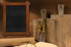 Rustikaler Küche-Hintergrund Stockfotografie