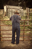 Rustikaler Landwirt Lizenzfreies Stockbild