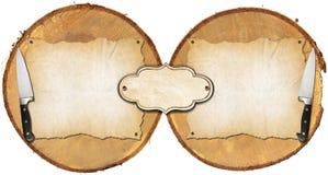 Rustikaler Menü-Hintergrund Stockbild