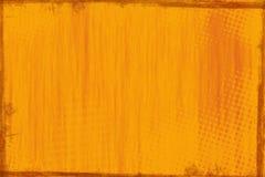 Rustikaler orange hölzerner Panelhintergrund Stockbild