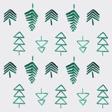 Rustikaler Wald des Aquarells stock abbildung