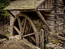 Rustikaler Waterwheel Stockfotografie