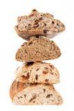 Rustikales Brot von verschiedenen Arten Stockfotos