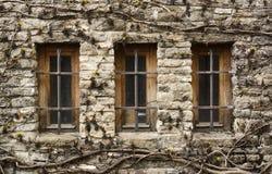 Rustikales Fenster Stockfoto