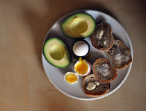 Rustikales Frühstück Stockbilder