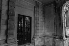 Rustikales historisches Gebäude in Sao Paulo, Brasilien stockbild