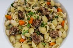 Rustikales italienisches Abendessen lizenzfreies stockbild