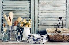 Rustikales Küchenstillleben lizenzfreie stockfotos