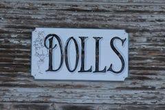 Rustikales Puppen-Zeichen Stockbilder
